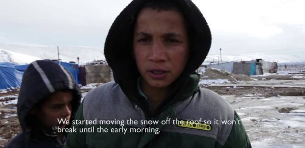 Snow in Lebanon makes survival for Syrian refugees even more difficult